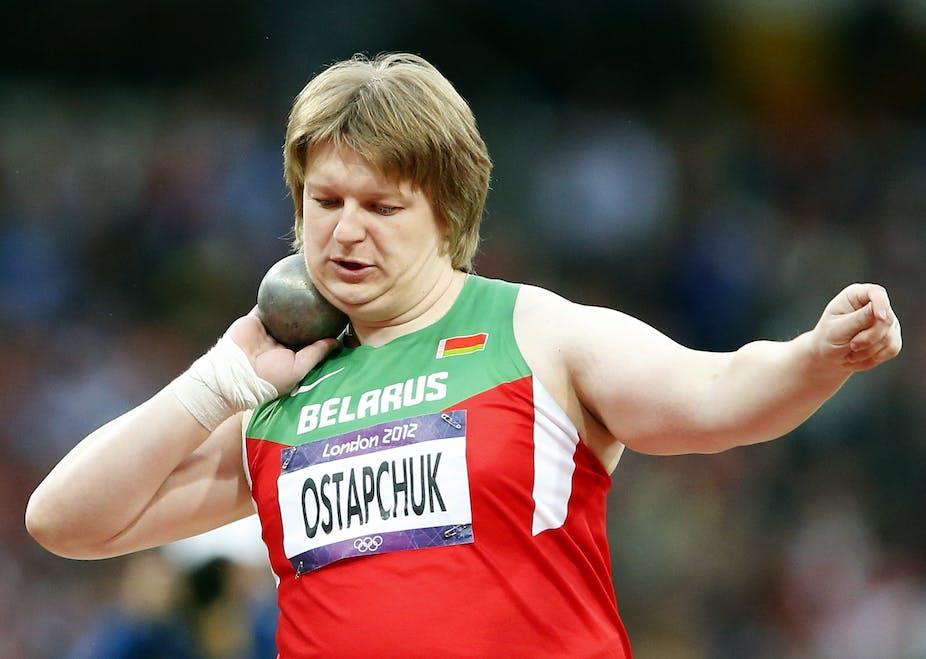 Image result for belarus shot put athlete caught doping