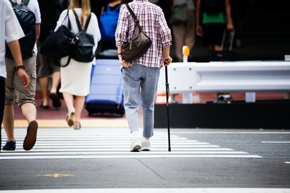 To Keep Older People Active Pedestrian Accessibility Must Improve