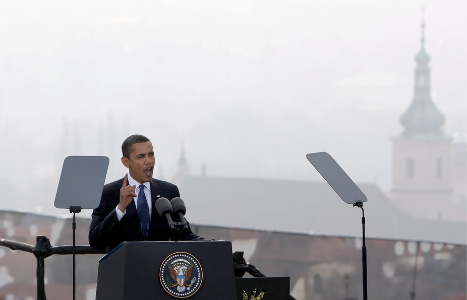 Obamas Nobel Winning Vision Of World Without Nuclear Weapons Is