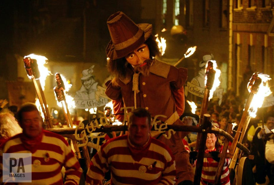 guy fawkes night celebrating the most famous act of counter