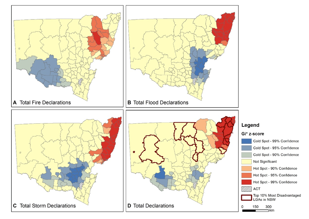 Natural Disasters Are Affecting Some Of Australias Most - Us map potential natural disasters