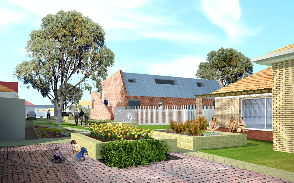 Reinventing density overcoming the suburban setback shared ownership of communal carports and street gardens would need to be negotiated officer woods author provided solutioingenieria Images