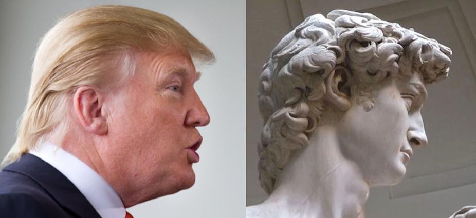 Donald trump son tonnante coiffure et le roi david for Coupe de cheveux donald trump
