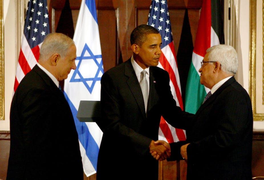 Resultado de imagen para Palestine's Abbas, America's Obama, and Israel's Netanyahu