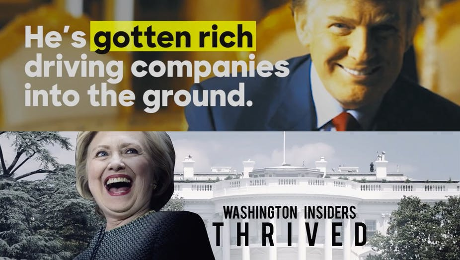2016 Presidential Advertising Focused On Character Attacks