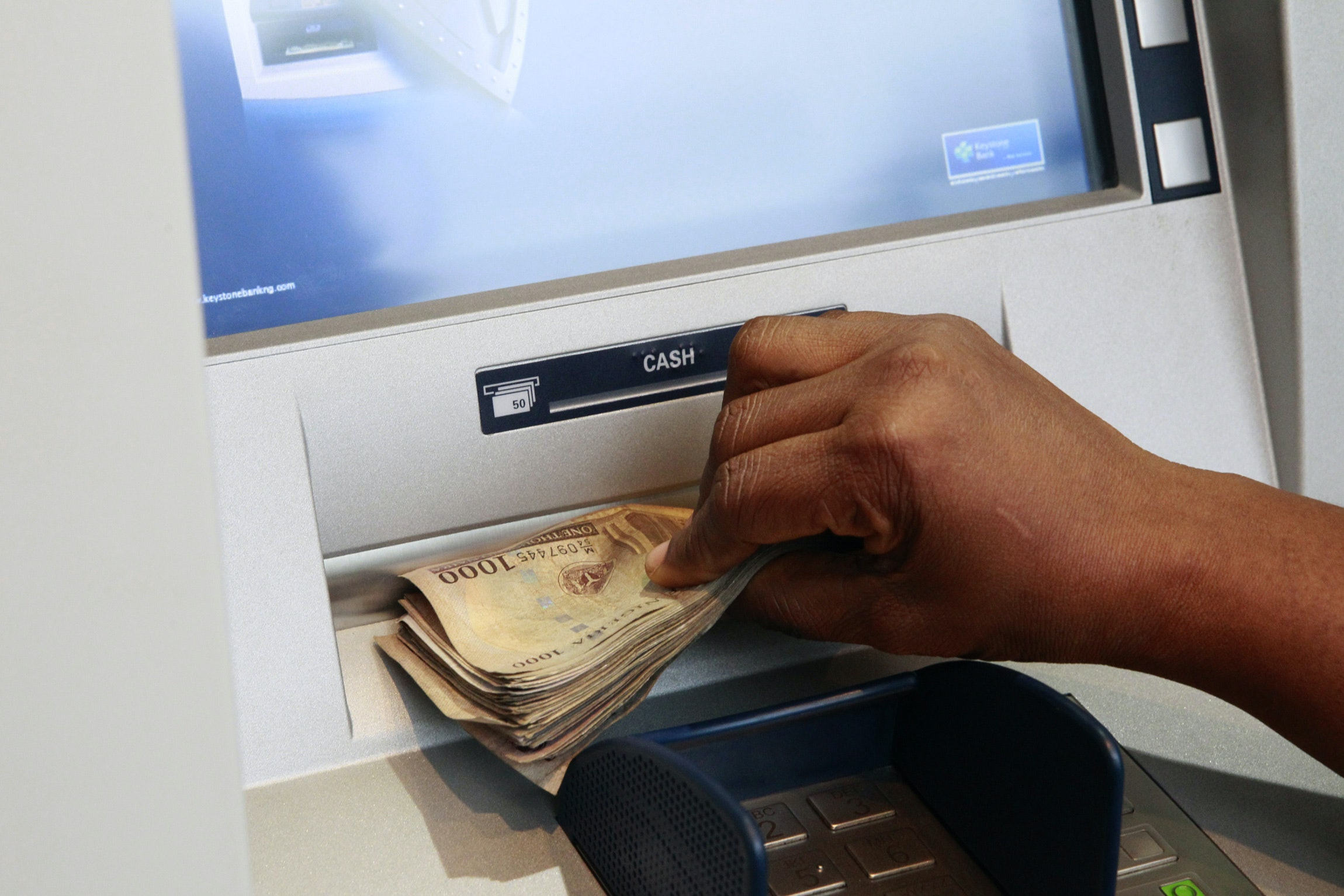 origin of atm machine and their demerits and merits to the banking industry in nigeria Related industry data sources reveal the  processed through automatic teller machines (atm)  home banking and point of sale fund.