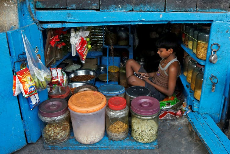 Half of Indian households has access to a mobile phone despite lacking other infrastructure. Rupak De Chowdhuri/Reuters