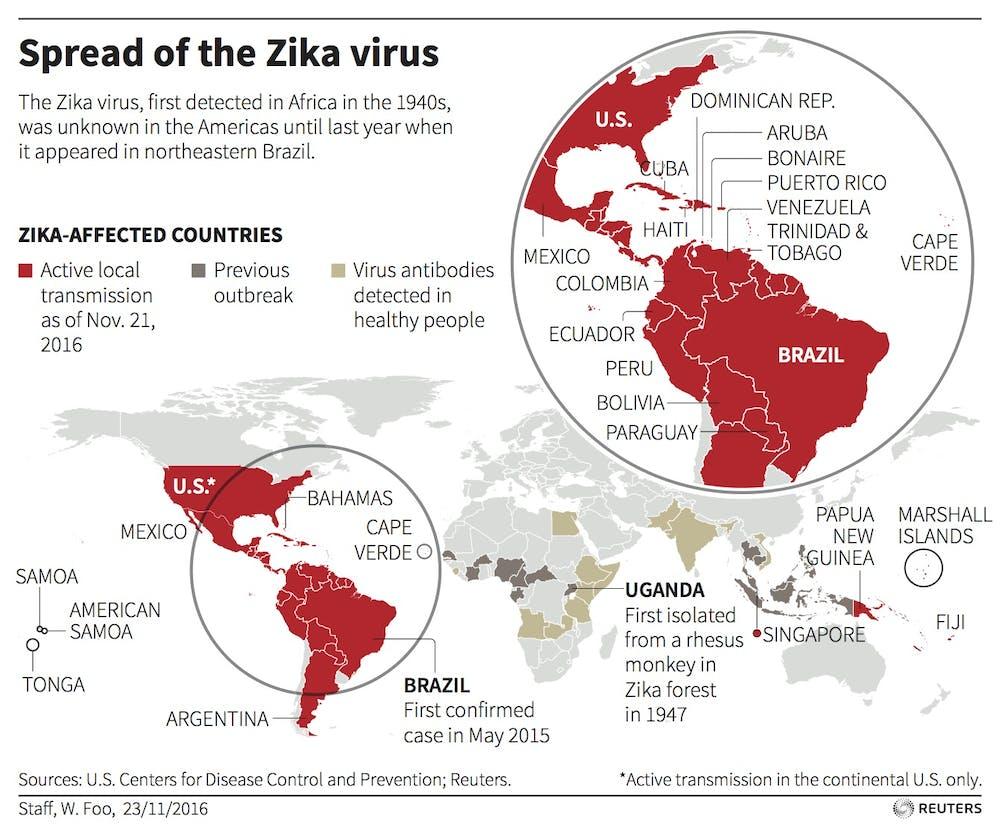 Dengue Virus Antibodies May Worsen A Zika Infection - Argentina zika map