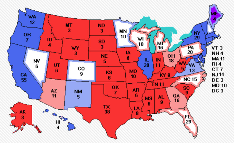 Us Election Final Results How Trump Won Us Map Of Popular Vote 2016
