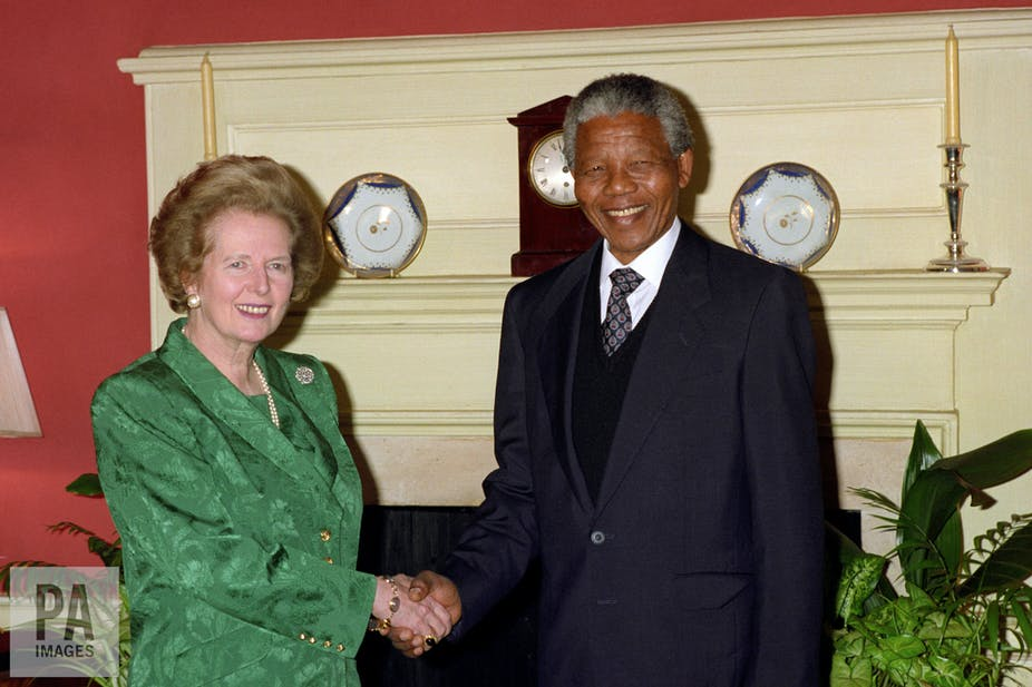 Image result for thatcher and mandela