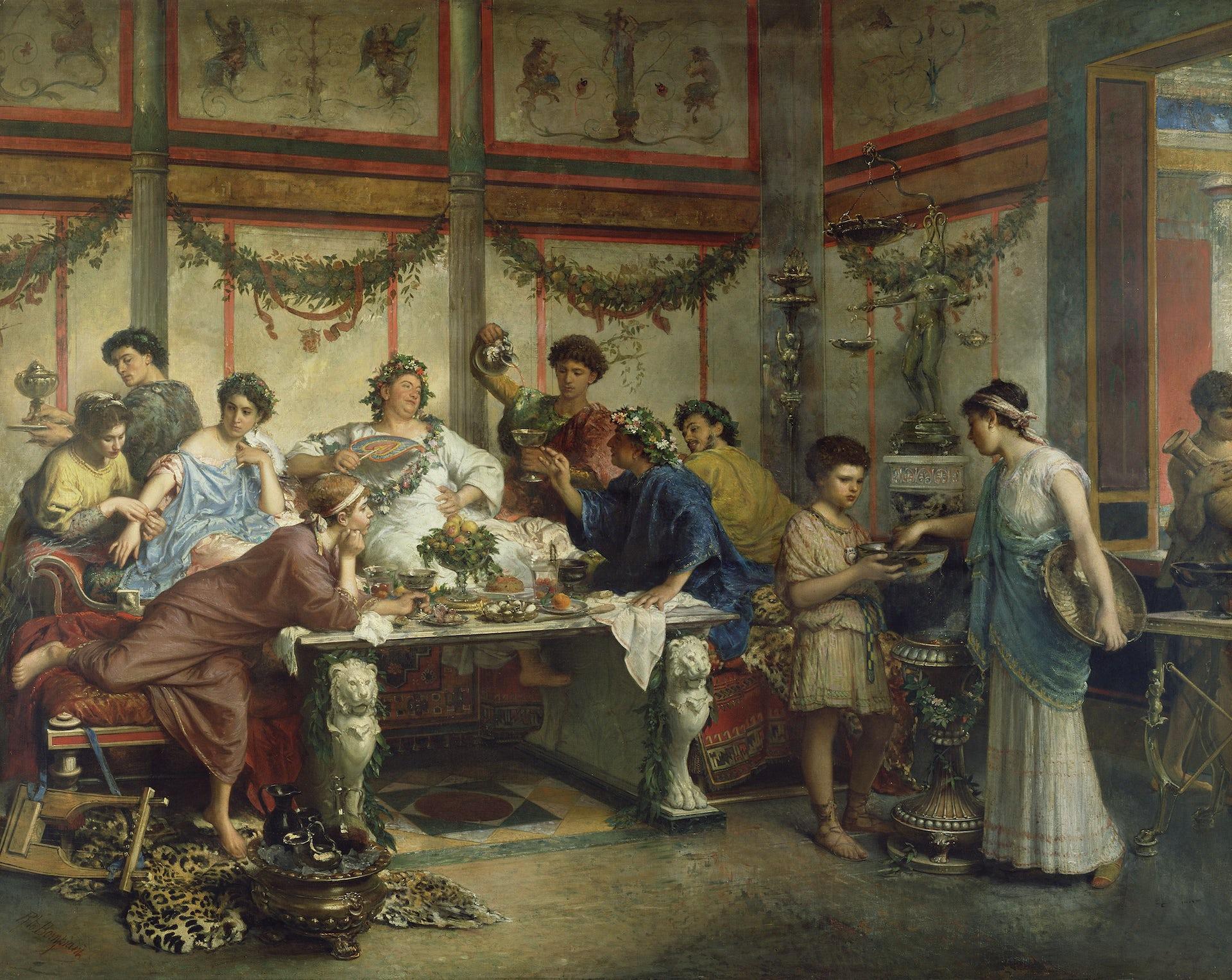 Caligula orgies vomit puke