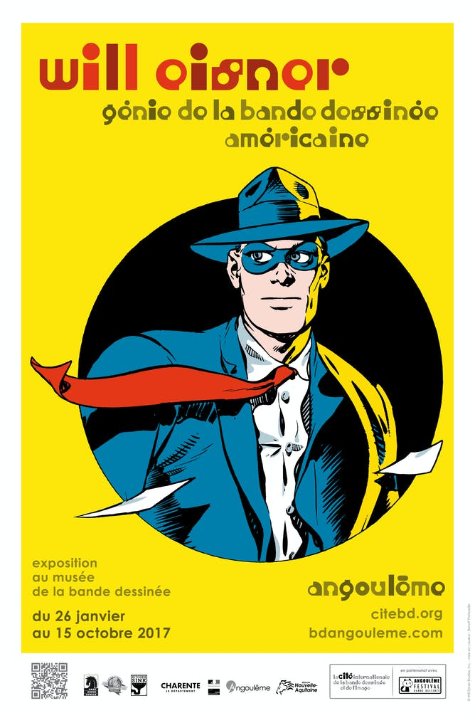 Poster for the Will Eisner exhibition in Angoulême (France). Angoulême Museum of Comics