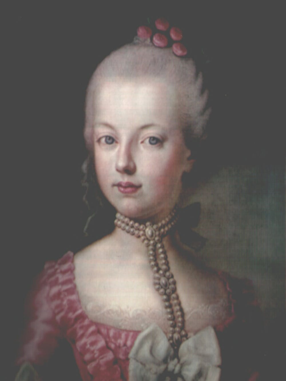 Archduchess Maria Antonia of Austria, the later Queen Marie Antoinette of  France, at age 16.