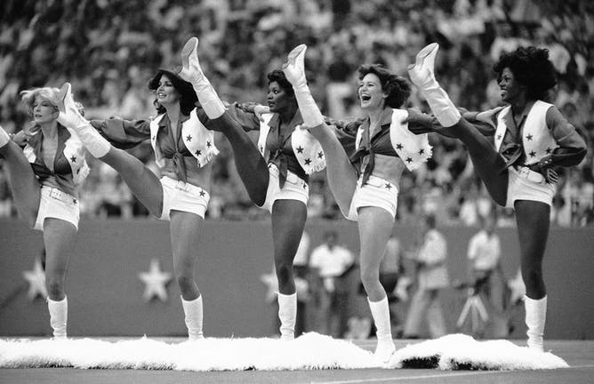 cheerleading s peculiar path to potential olympic sport the dallas cowboys cheerleaders perform at an nfl game in 1978