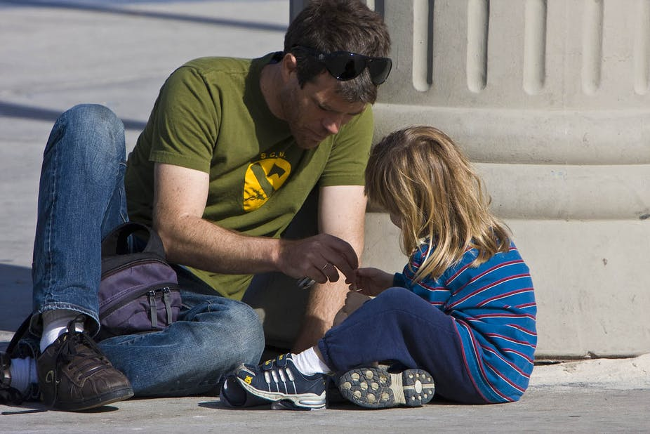 Dads are more involved in parenting, yes, but moms still put