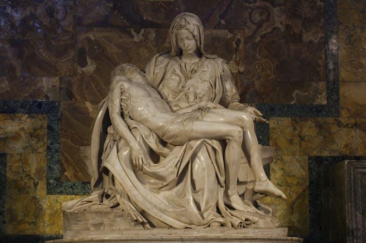 Michelangelo's La Pietà. Shutterstock