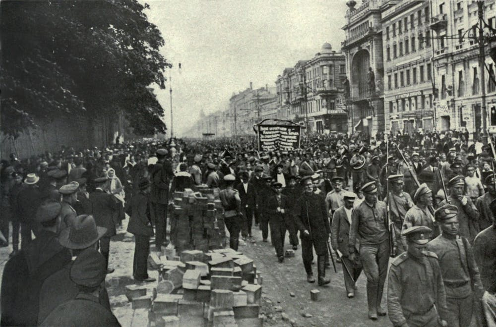 friday essay putin memory wars and the th anniversary of the  bolshevik parade in st petersberg 1917 everett historical