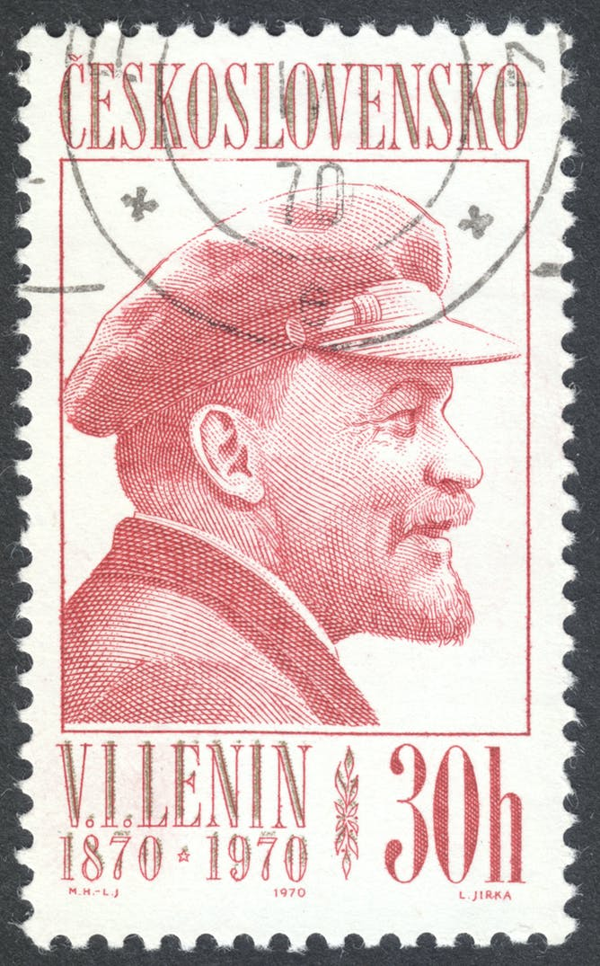 friday essay putin memory wars and the 100th anniversary of the postage stamp marking the 100th anniversary of lenin s birth shutterstock