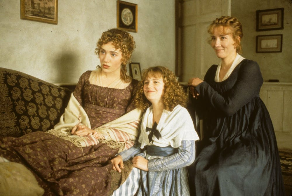 friday essay the revolutionary vision of jane austen kate winslet marianne and her sister elinor emma thompson in the 1995 film version of sense and sensibility columbia pictures productions idmb
