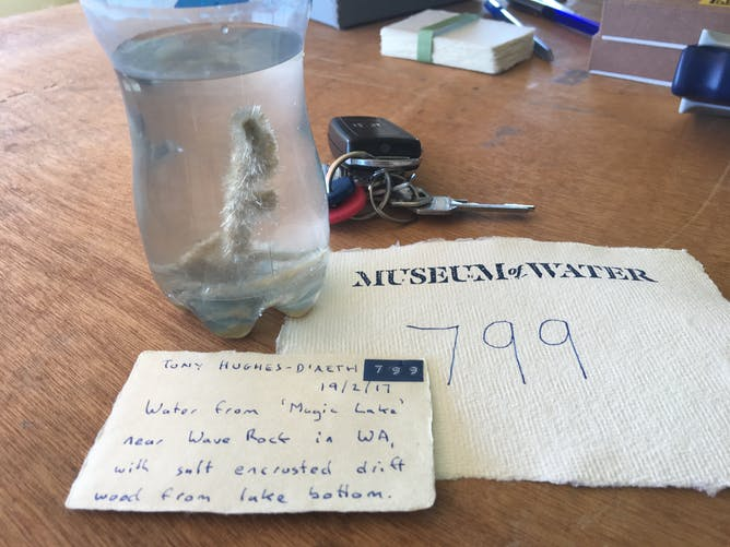 perth s museum of water documents our intimate relationship a tony s donation to the museum of water piece of driftwood encrusted gypsum tony hughes d aeth author provided