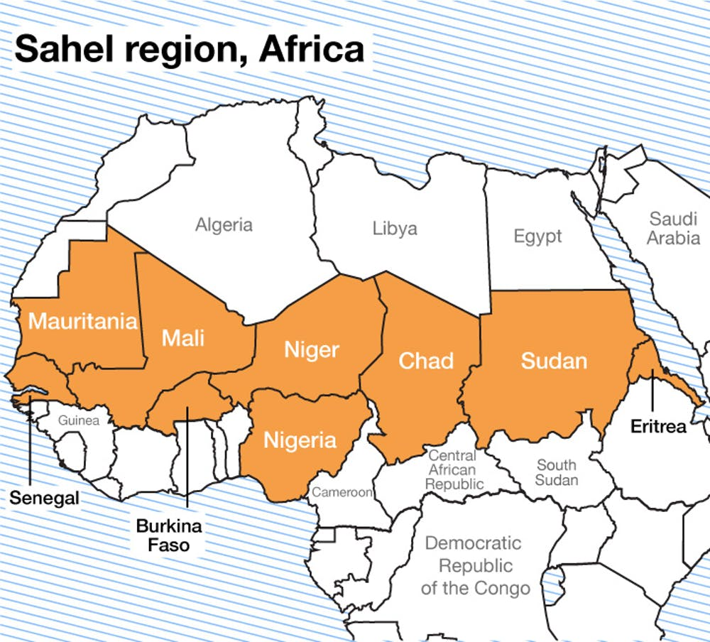 sahel map of africa Sahel Region Africa