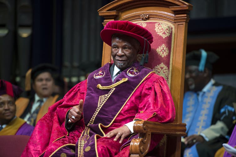 Thabo Mbeki during his inauguration as Chancellor at UNISA.
