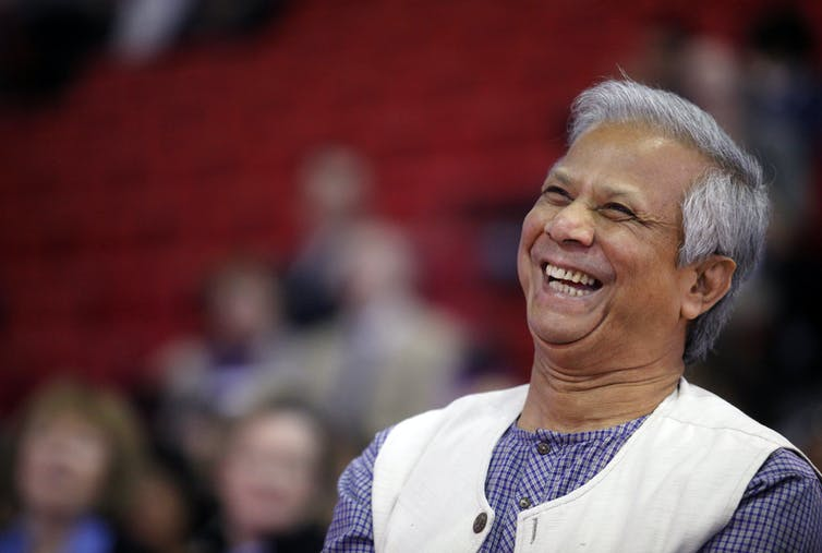 Mohammad Yunus created microfinance by experimenting with lending to poor women in Bangladesh. Eric Thayer/Reuters
