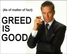 Greed is good » (film « Wall Street », 1987)