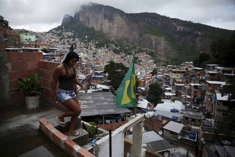 The Rocinha neighbourhood in Rio de Janeiro where favela life inspires funk lyrics. (Credit: Pilar Olivares / Reuters)