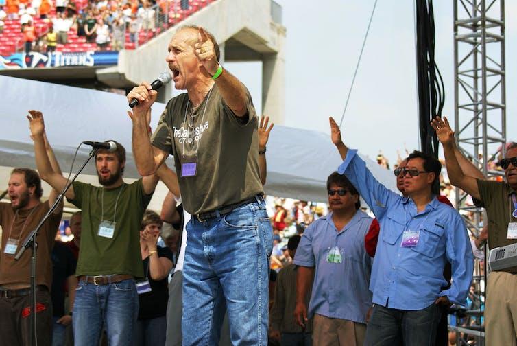 Lou Engle, an American Charismatic Christian leader. eden frangipane, CC BY