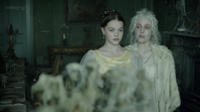 friday essay from grotesques to frumps a field guide to gillian anderson as miss havisham right and izzy meikle small in the 2011 tv adaptation of great expectations bbc