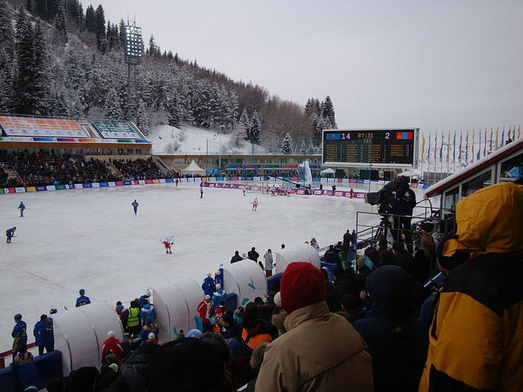 Kazakhstan has used sport, such as the Asian Games in Astana-Almaty, 2011, to promote nationalist sentiment. A.Burgermeister/Wikimedia, CC BY-ND