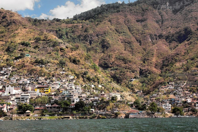 Around 12% of the population of the Atitlan Basin is connected to sanitation.