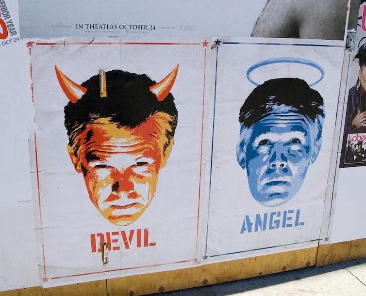 Entre l'ange et le démon, il y a simplement l'humain. Alper Çuğun/Pixabay, CC BY-SA