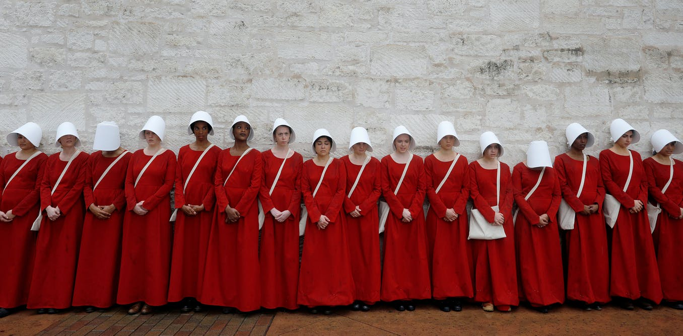 the handmaids tale critique Synopsis: set in the dystopian future, this series follows a fertile woman who is forced into sexual servitude due to the world's plunging birthrate based on a novel by margaret atwood.