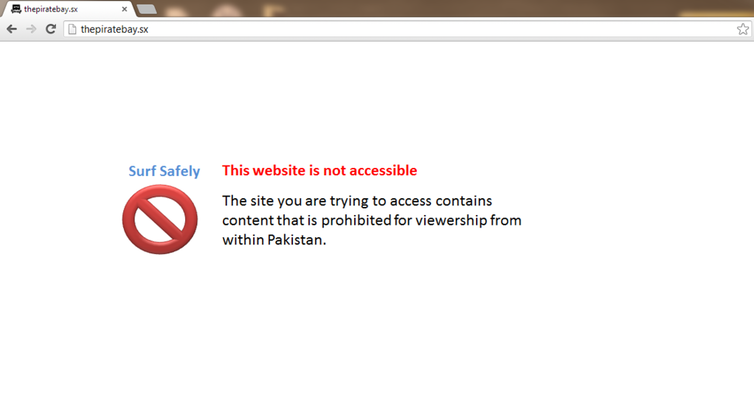 Blocked message from 2013 in Pakistan. Credit: Wikimedia Commons