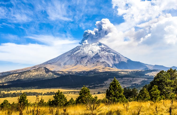 Popocatepetl during the day