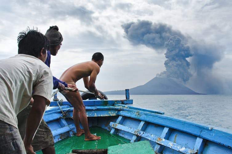 Krakatau eruption in 2011