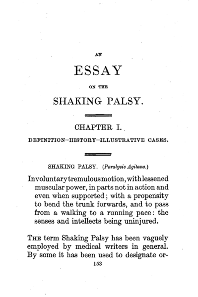 from blood letting to brain stimulation years of parkinson s the seminal essay was the first to describe cases of parkinson s disease