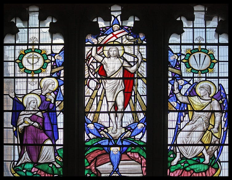 stained glass window resurrection Easter Sunday