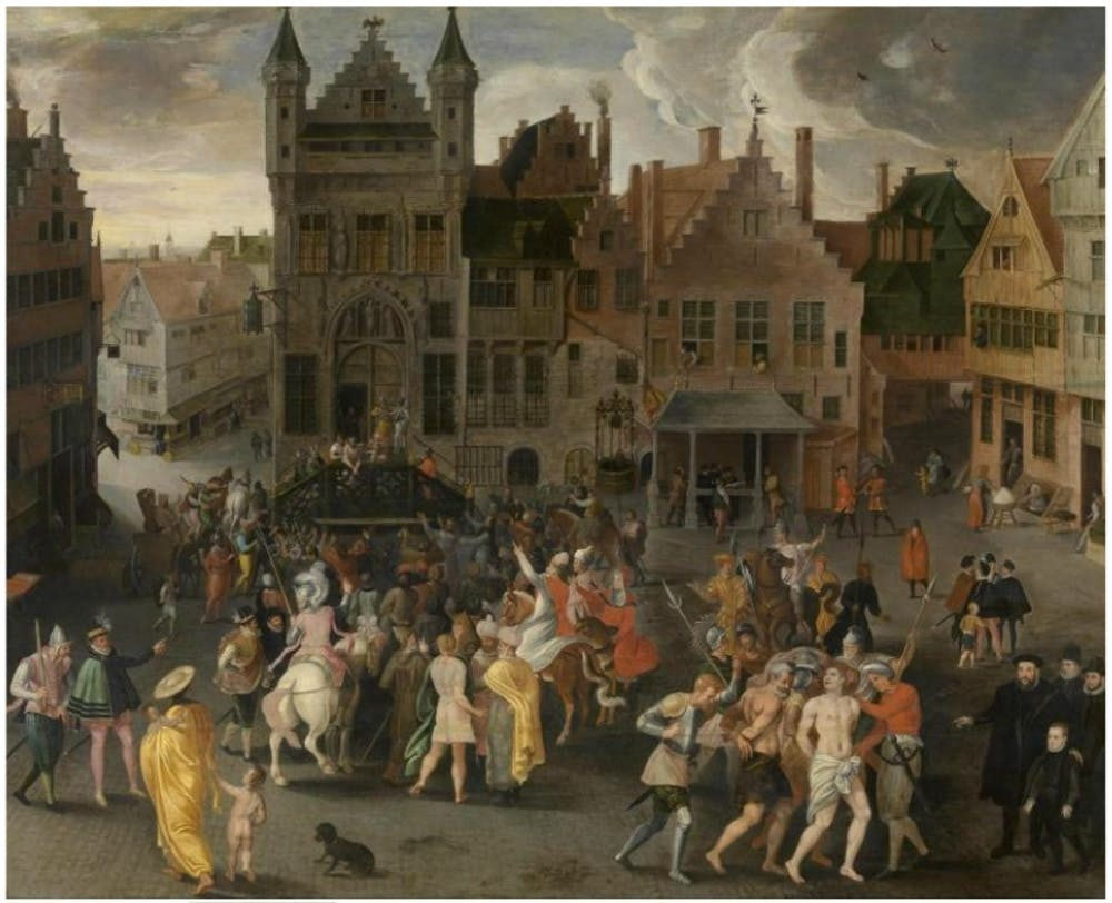 Healthy Diet Essay A Thcentury Passion Play On The City Square In Antwerp Essay On English Language also Reflection Paper Essay Good Friday Essay Passion Plays And The Ethics Of Spectacular Violence Compare And Contrast Essay Topics For High School Students