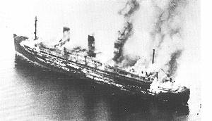 Image result for Sinking of German ocean liner Cap Arcona Photo: The Conversation)