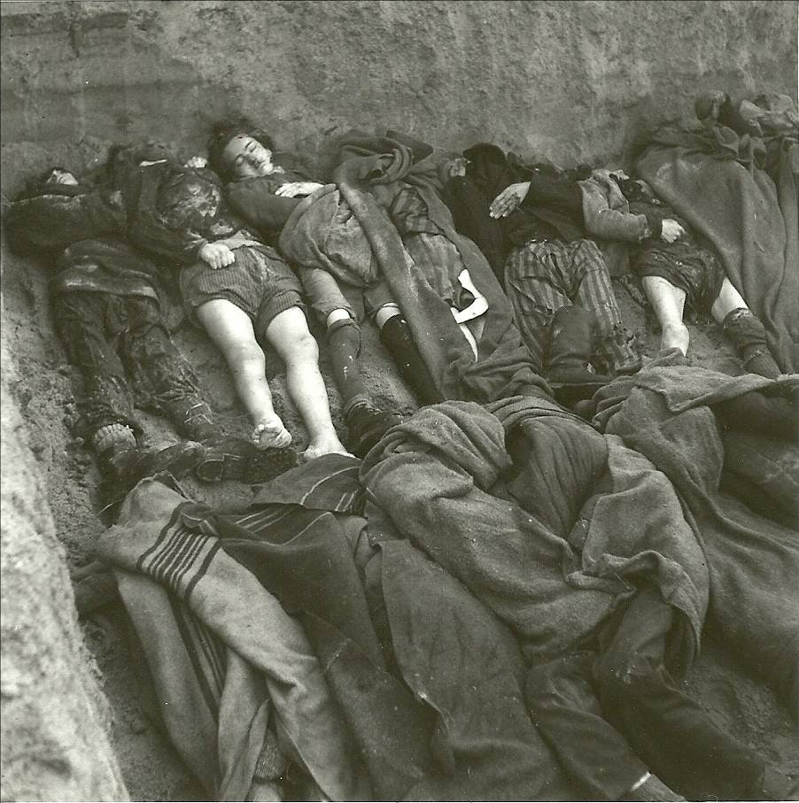 Casualties of the tragedy. Imperial War Museum Image Collection
