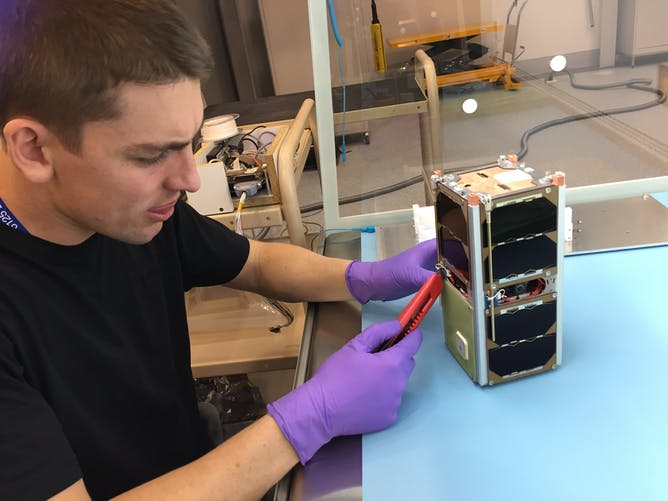 Australia blasts into space with miniature satellite