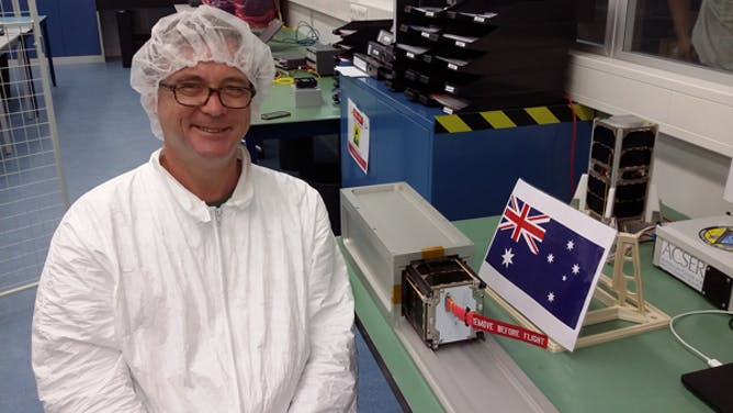 South Aust satellite blasts into space
