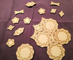 Laser-cut Girih tiles. Credit: 38462165@N05/flickr. CC BY