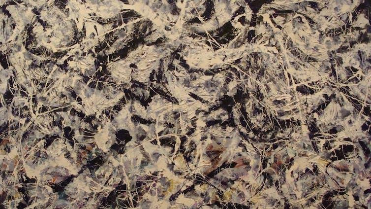'Greyed Rainbow' by Jackson Pollock. Credit: ancientartpodcast/flickr. CC BY