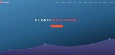 Краундфандиговая страница  DAO в мае 2016