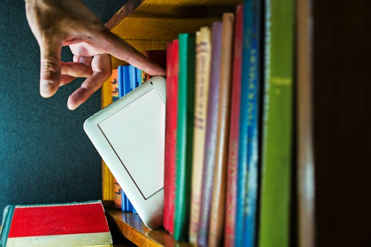 Digital At The Bookshelf