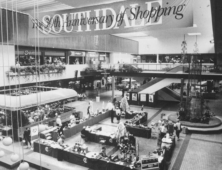 The Southdale Center pictured in 1986, 30 years after its opening. AP Photo/Larry Salzman
